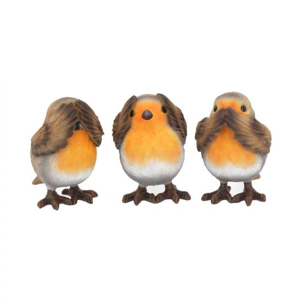 Three Wise Robins 8cm