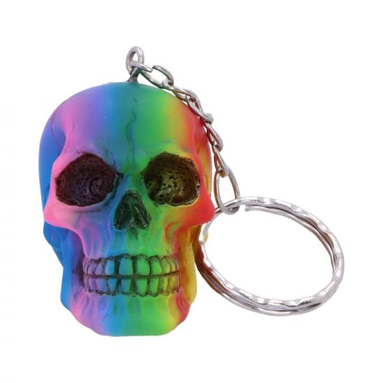 Rainbow Keyrings 4.3cm (set of 6)