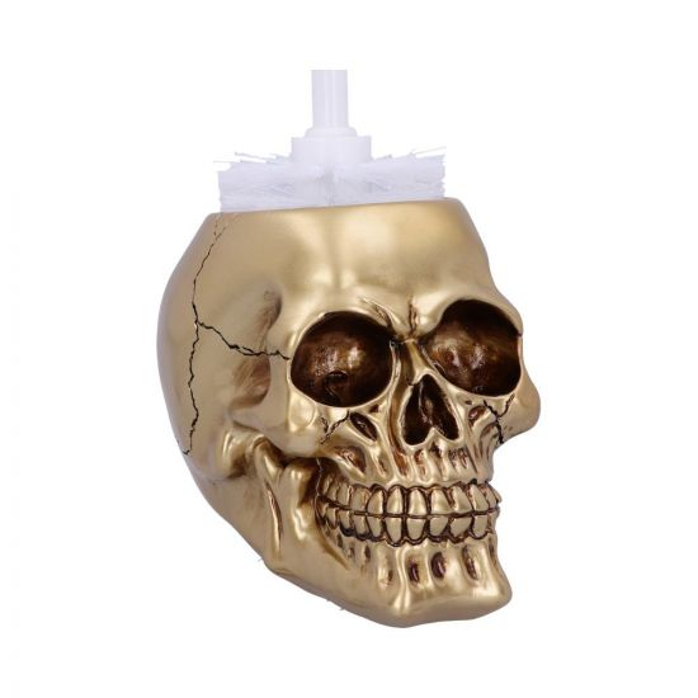 Brush with Death - Gold 16.4cm Skulls New in Stock Value Range