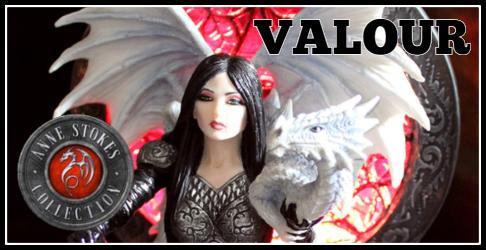 Behind Anne Stokes' Valour Figurine