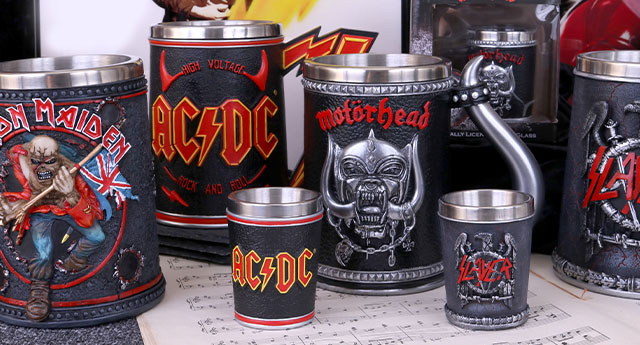 Nemesis Now Brands-ACDC, Iron Maiden, Motorhead & Slayer